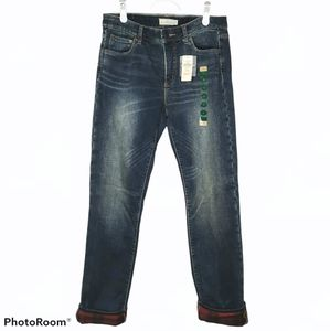 LL Bean Signature Flannel Lined Straight Leg Jeans